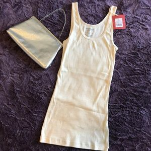 NWT Sweet Mossimo Tank Ivory w/ light Gold Shimmer